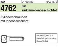 ISO4762 M8 x 25 mm Stahl zinklamellenbeschichtet 8.8