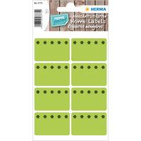 Küchen-Etiketten, Tiefkühletikettenleuchtgrün, Rechteckig, 48 Stück