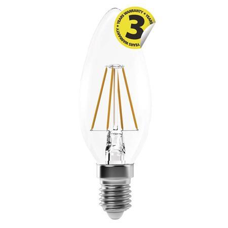 EMOS LED žárovka Filament Candle A++ 4W E14 neutrální bílá 1525281204