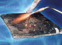 Feuchtmatte 1000 x 1000 x 30 mm als Schweißunterlage m.Spezialisolation,b.3000°C