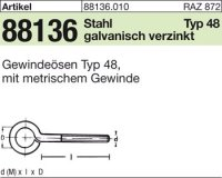 Gewindeösen Typ 48 M6x60D10