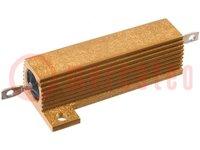 Résistance: bobinée; avec radiateur; vissés; 120Ω; 50W; ±1%