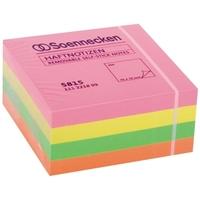Soennecken Haftnotizwürfel 5815 75x75mm 400Blatt neonfarben