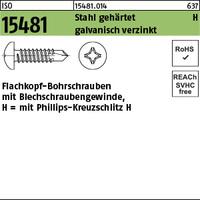 ISO 15481 Stahl ST 5,5 x 16 -H galv. verzinkt gal Zn S