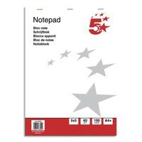 5 ETOILES Bloc de bureau 60g 21x32cm (A4+) 200 pages. Feuilles détachables. Couverture papier
