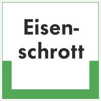 Abfallkennzeichnung - Textschild, Eisenschrott, Größe (BxH): 20,0 x 20,0 cm