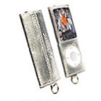 Krusell MP3 Player Encore Tasche 74135 für Apple iPod Nano 4G - silbermetallic