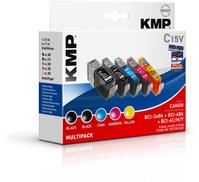 KMP C15V Zwart, Cyaan, Magenta, Geel 5 stuk(s)