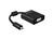 Adapter HDMI micro Stecker D an VGA Buchse mit Audio, schwarz, Delock® [65558]