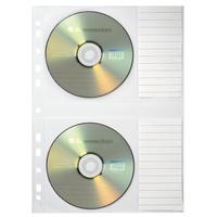 Soennecken CD/DVD Hülle 20,7 x 26,1 cm (B x H) Polypropylen transparent 5 St./Pack.