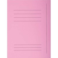 "EXACOMPTA Paquet de 50 chemises pré-imprimés 3 rabats ""SUPER 250"" en carte 210 grammes rose"