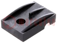 Clamping part for transistors; TO220; black