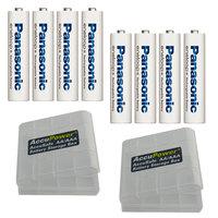 Panasonic Eneloop Inoltre AAA/Micro batterie 8 pezzi. + 2x AccuPower contenitore di batteria
