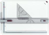 Zeichenplatte Rapid, A3, schlagfester Kunststoff, hellgrau, Karton 1St