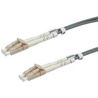 VALUE LWL-Kabel 50/125µm LC/LC, OM2, grau, 1,0 m