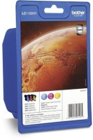 Brother LC1100HY Rainbow-Pack Origineel Cyaan, magenta, Geel 3 stuk(s)