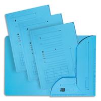 ELBA Paquet de 25 sous-dossiers ultimate 2 rabats kraft 240gr colorisbleu