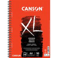 CANSON Bloc spiralé de 120 feuilles de papier dessin CROQUIS XL 90g grand format A4