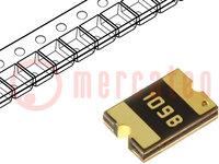 Zekering: PTC polymeer; 100mA; Imax:40A; PCB, SMT; Beh:1812; MF-SM