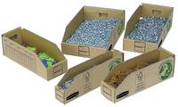 Bankers Box by Fellowes Parts Bin Corrugated Fibreboard Packed Flat W200xD280xH102mm Ref 07355 [Pack 50]