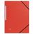 5 ETOILES Chemise 3 rabats monobloc � �lastique en carte lustr�e 5/10e, 390g. Coloris rouge.