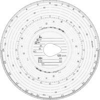 Original HAUG Diagrammscheiben 125 100 (125 km/h Kombi), 100 Stück