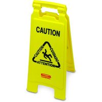 Rubbermaid Warnschild mehrsprachig Caution 67,3cm