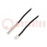 Senzor: termistor NTC; Vlastnosti: vodotesný; -20°C÷105°C; 10kΩ