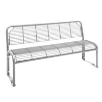 Modellbeispiel: Sitzbank -Dita-, mobil, ohne Armlehnen, in weissaluminium, (Art. 20967-10)