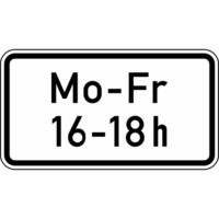 Modellbeispiel: VZ Nr. 1042-33, (Zeitliche Beschränkung Mo - Fr, 16 - 18 h)