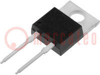 Diode: rectifying; THT; 600V; 15A; Package: tube; TO220-2; 35ns