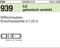 DIN939 5.8 galZn M10x40