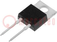 Diodo: raddrizzatore; THT; 600V; 15A; Confezione: tubo; TO220-2