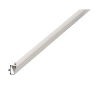 Klemmprofil, Kst. weiß, LxBxS 1000 x 15 x 0,9 mm