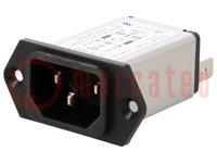Conector: de alimentación AC; Versión: C14 (E), con filtro; macho