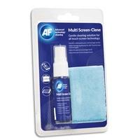 AF Kit voyage:1 spray 25ml pr écrans sans alcool/non-abrasive+1 petit chiff microfib antistatiq AXMCA25MF