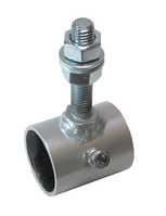 """Universal-Rohrhalter für Rohr 1"""", grau, mit Gewindestange M12, pulverbeschichtet,"""