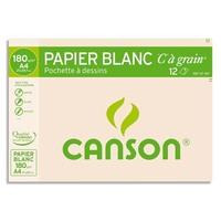 Pochette de 12 feuilles de papier dessin C A GRAIN 180g A4 Ref-27107