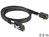 SAS Kabel HD x 4 SFF 8643 Stecker auf Mini SAS x 4 36 Pin SFF 8087 Stecker, 0,5m, Delock® [83388]