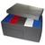 NEUTRE Lot de 5 boîtes archives dos 10cm polypropylène assortis + 1 conteneur PP gris