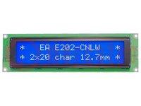 Display: LCD; alphanumerisch; STN Negative; 20x2; blau; LED; PIN:16