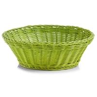 Zeller Brötchenkorb, Material: Kunststoff, Farbe: grün, Form: rund,