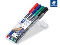 Lumocolor® permanent pen 313 Permanent-Universalstift S STAEDTLER Box mit 4 sortierten Farben