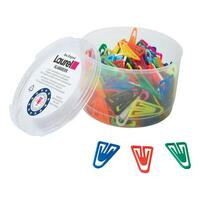 Laurel Paperclips Plastic Non Magnetising 35mm Assorted Colours Ref 25918 [Pack 200]