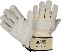 Glove Verden split leath.SZ 10 grey MW
