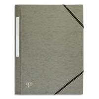 5 ETOILES Chemise 3 rabats monobloc � �lastique en carte lustr�e 5/10e, 390g. Coloris gris.