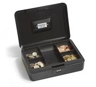 Geldkassette (B 20,7 x T 15,0 x H 8,0 cm, schwarz) mit Zahlenschloß