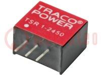 Convertitore: DC/DC; Ud'ingr:12÷36V; 9VDC; Iusc:1A; SIP3; 1,9g