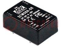 """Átalakító: DC/DC; 8W; Ubem:9÷18V; 5VDC; Ikim:1600mA; 1,2""""x0,8"""""""