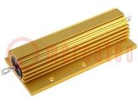Resistor: bobinado; con radiador; atornillado; 100Ω; 150W; ±5%